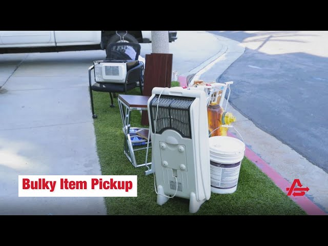 How to Request a Bulky Item Pickup