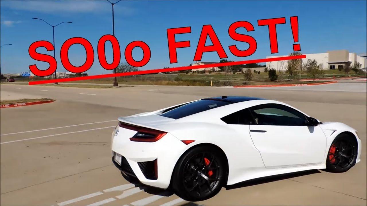 Acura NSX 2017 Ride! 120+ MPH in SECONDS! 0-60 in 2.8 SEC! - YouTube