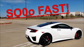 Acura NSX 2017 Ride! 120+ MPH in SECONDS! 0-60 in 2.8 SEC!
