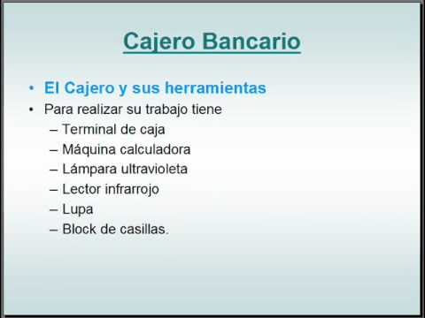 Cajero Bancario 01 Youtube