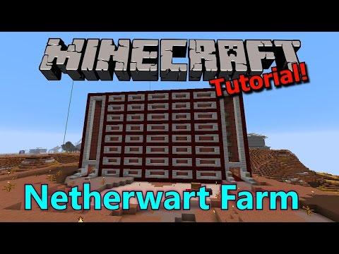 [Tutorial] Minecraft Large Netherwart Farm