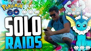 Pokemon Go - SOLO Level 3 RAIDS! (WHY DOES THIS HAPPEN TO ME)