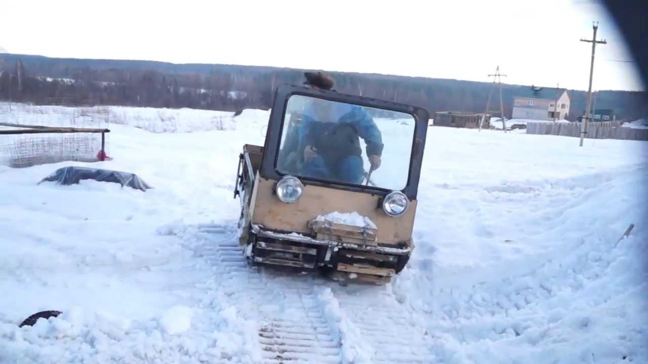 Гусеничный снегоход своими руками видео фото 481