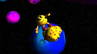 Pac-man Adventures In Time Cutscene - Asteroid