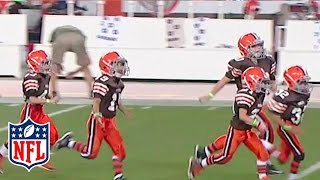 Little Browns Play During Halftime | NFL