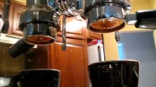 Ponte Vecchio Lusso pulling 12g of Red Bird Espresso
