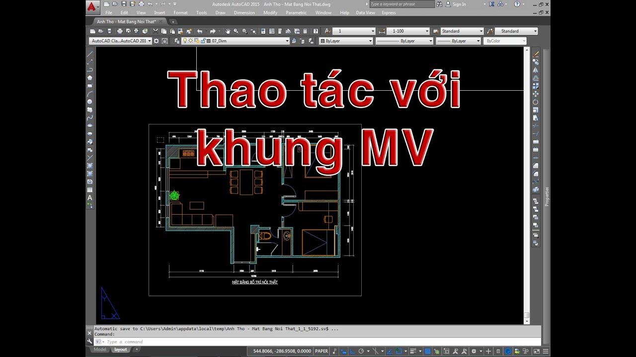 ✔ Trả Lời Bạn – Cách Khóa, Mở Và Thao Tác Với Khung MV – Autocad PhuongTk | NESA iCAD