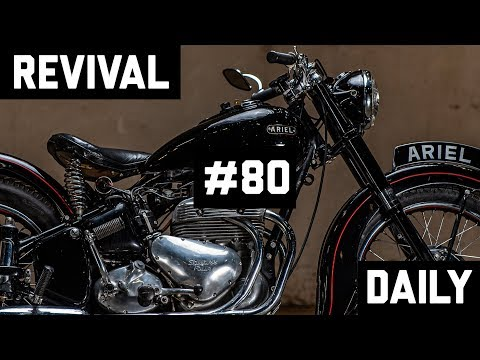 "1953 1,000cc Ariel Square Four  or ""Squariel"" Gets a ""Revival Special""  // Revival Daily 80"