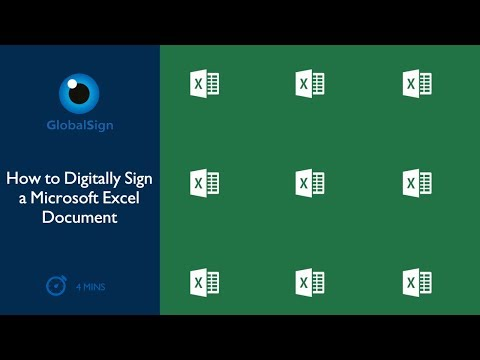 How To  Digitally Sign A Microsoft Excel Document