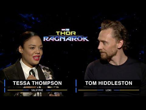 Tessa Thompson and Tom Hiddleston on Marvel Studios' Thor: Ragnarok