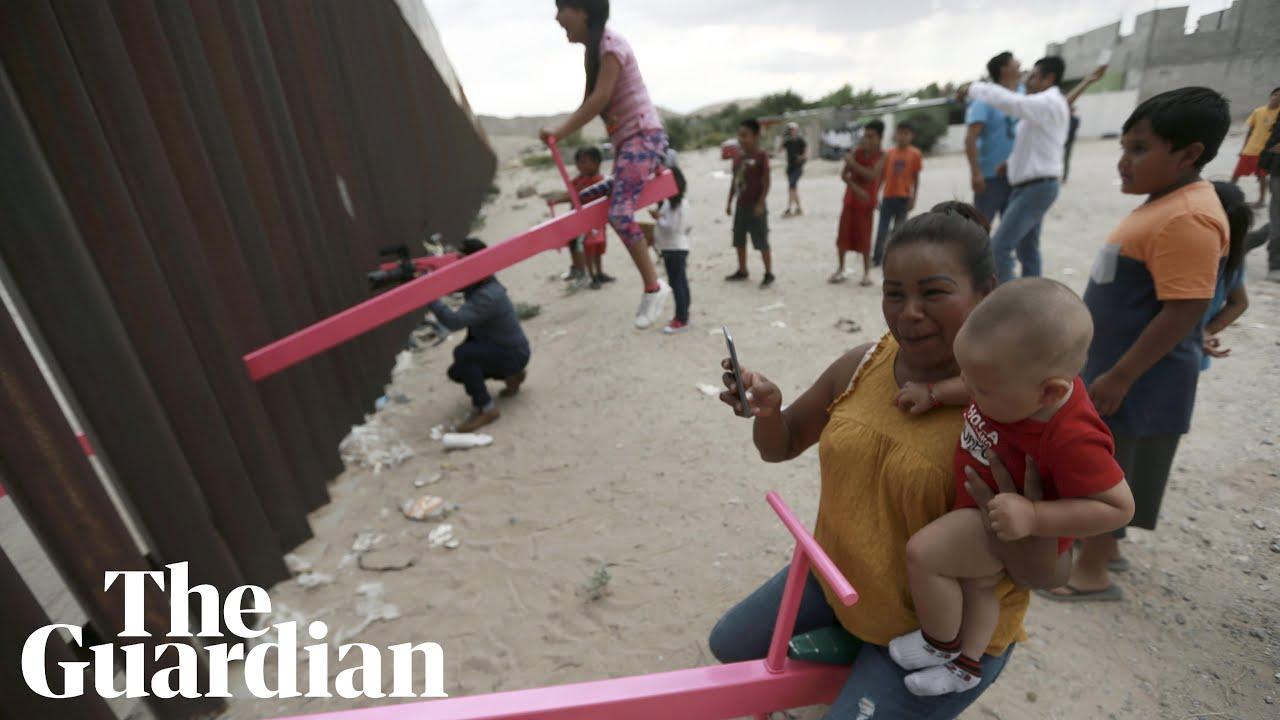 Pink See-Saws at Border Wall Win Design Award