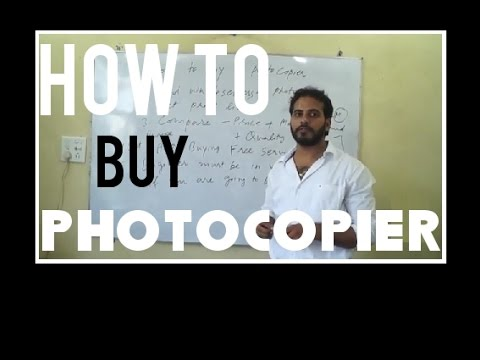 How to Buy a Photocopier