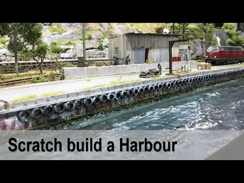 Scratch build a Harbour in H0-scale
