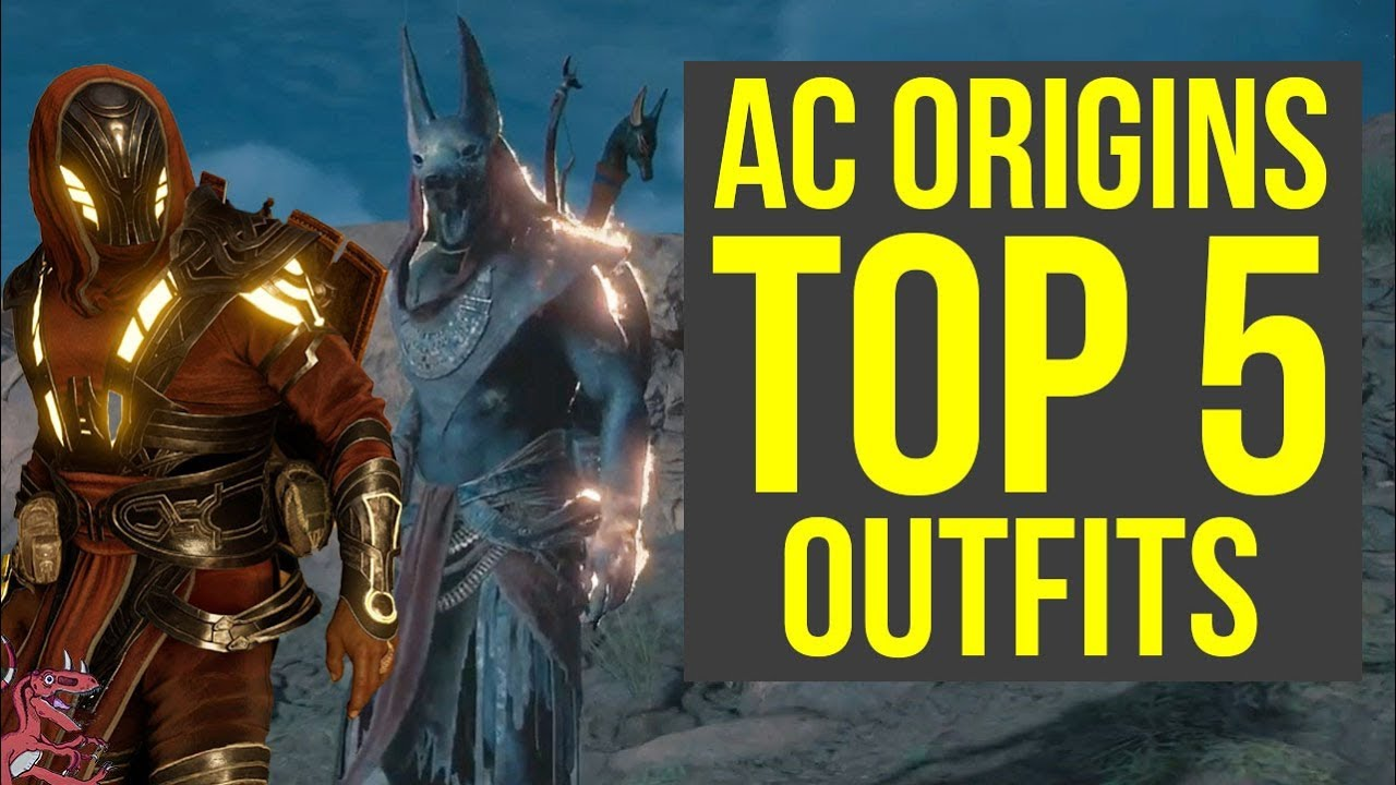 Assassinu0026#39;s Creed Origins All Outfits TOP 5 - MOST AMAZING ARMOR (AC Origins) - YouTube
