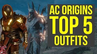 Assassin's Creed Origins All Outfits TOP 5 - MOST AMAZING ARMOR (AC Origins)