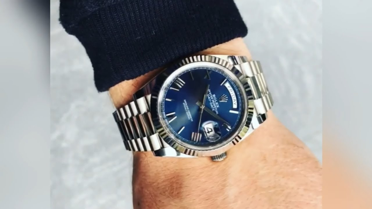 Rolex Day,Date 228239 Blue Roman dial 40 mm White Gold