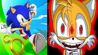 Sonic Dash vs SONIC EXE TAILS DOLL