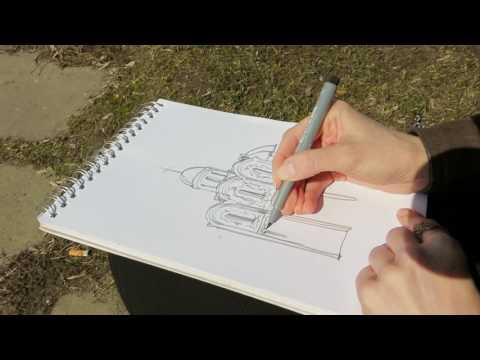 Как нарисовать дмитриевский собор