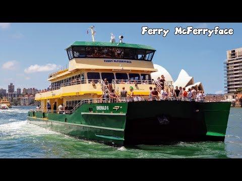 Sydney Trains Vlogs: Sydney's Newest Ferry - Ferry McFerryface