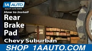 How To Install Replace Rear Brake Pads 2000-06 Chevy Suburban