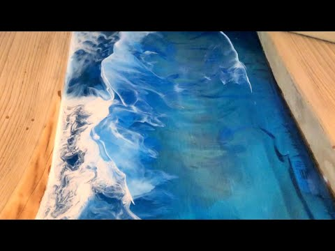 Resin Ocean Wave Art Tutorial (Beach Inspired Seascape)