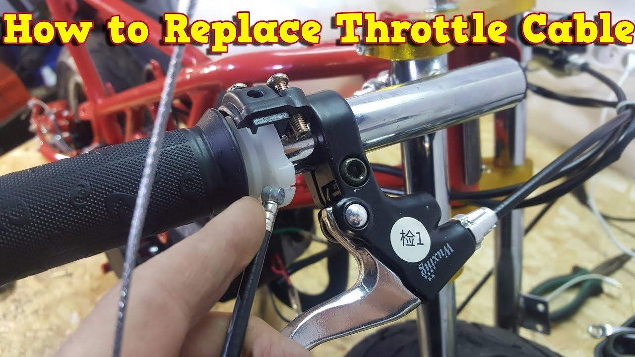 Pocket bike throttle cable