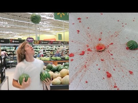 I Tried Juggling Watermelons In The Store!