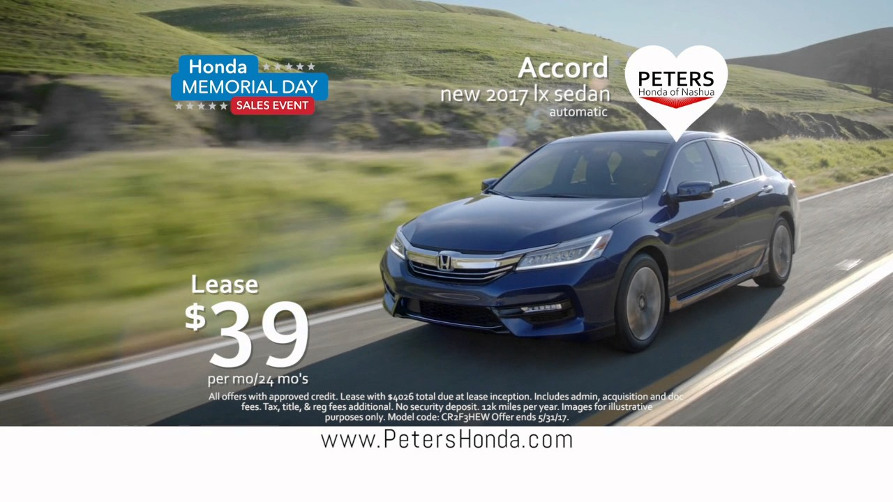 Honda Memorial Day Sale 2017 >> Peters U Luv It Honda Accord Memorial Day