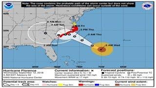 Live News  Hurricane Florence strengthens to Category 4, targets Carolinas  | Nguyễn Thị Bảo Trâm