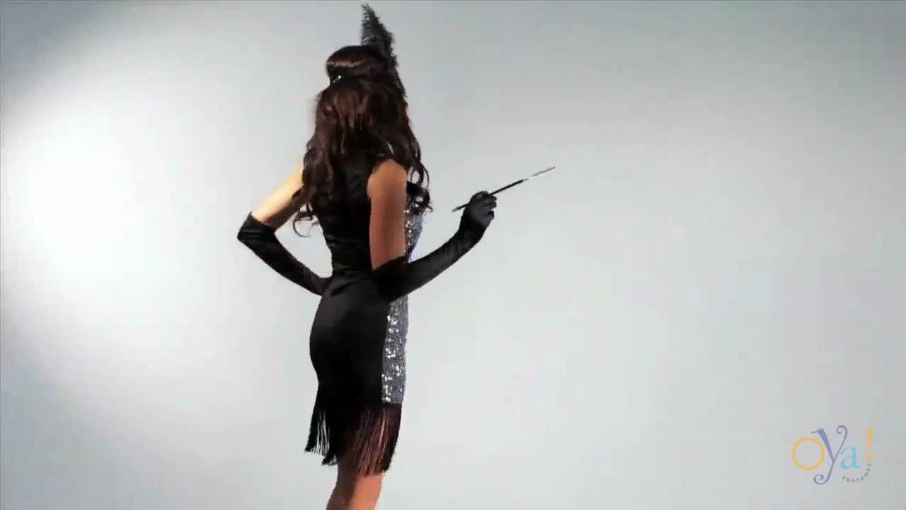 womens flapper 1920s halloween costume video oya costumes youtube