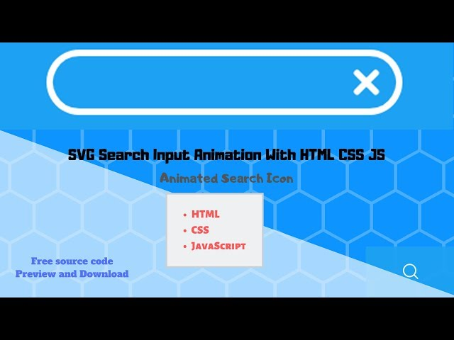 Svg Search Input Animation With Html Css Js Animated Search Icon Youtube