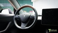0452628f4b4d Tesla Model 3 Interior Upgraded with Leather Seats and Wood Steering Wheel  - Duration  84 seconds.