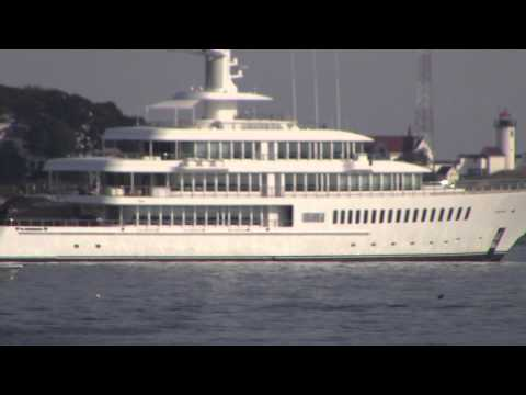 Super Yacht in Gloucester Harbor