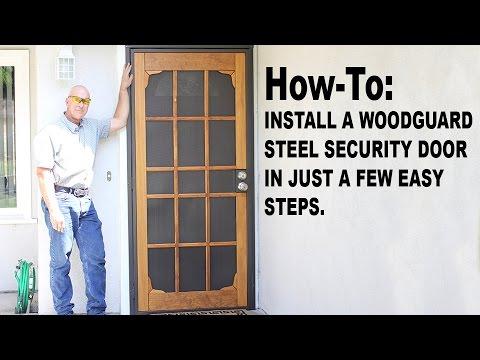 How-To: Install a Woodguard Steel Security Door (English)