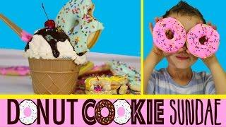 Cookie Donut Ice-cream Sundae Piñatas | How to Make Surprise Inside Dough Nut Piñata Cookies!
