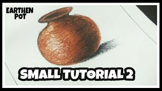 How to draw Still Life with Oil Pastels - 2 [ EARTHEN POT ]