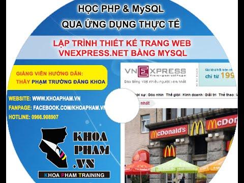 Giới thiệu khóa học lập trình PHP&MySQL online tại KhoaPham.Vn