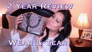 Louis Vuitton Alma BB Two Year Wear & Tear Review WHATS IN MY BAG