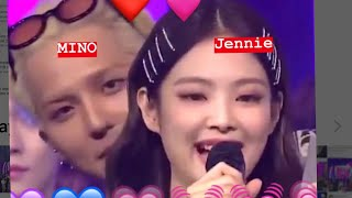 💗💓Jennie and mino all cute moments 2018💓💗minniecouple