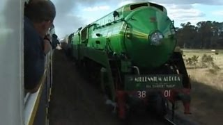 Parallel Steam Trains - Welcome to the Millennium Aurora - Easter 2000