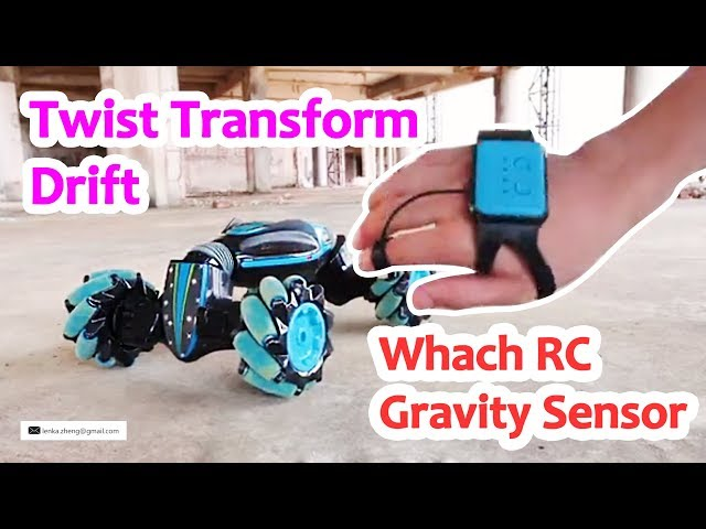 Watch RC Gravity Sensor Drift Car Twist Transform Double Side Run Stunt Spin