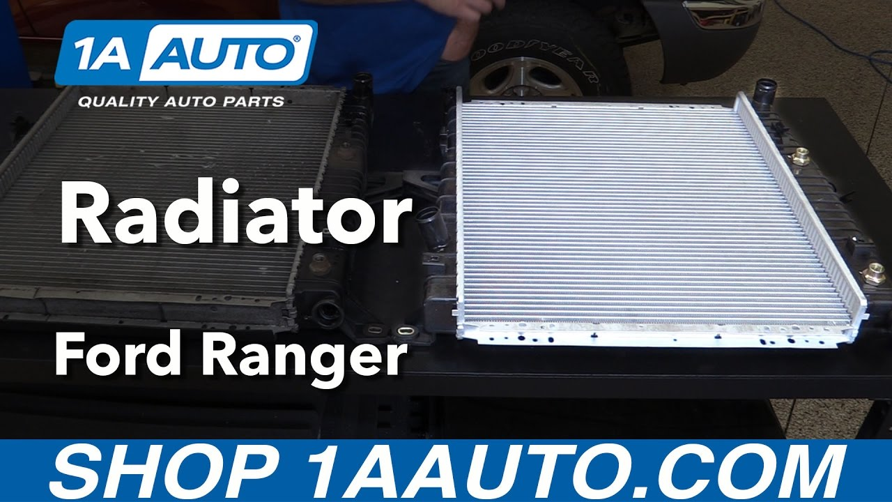 hight resolution of how to replace radiator 98 11 ford ranger v6 4 0l
