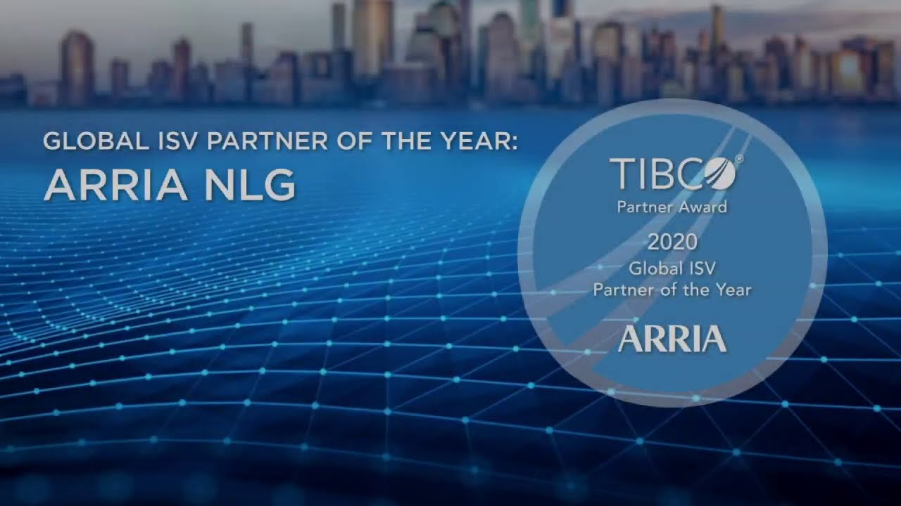 2020 TIBCO Global ISV Partner of the Year - Arria NLG - YouTube