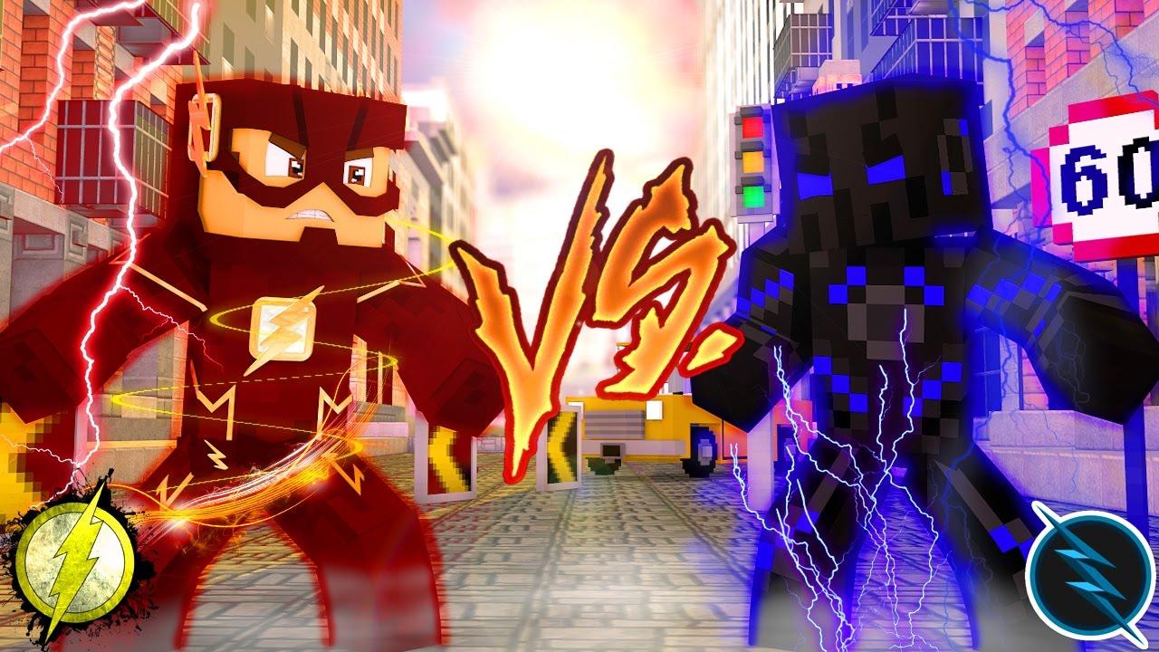 Minecraft flash vs zoom reactions