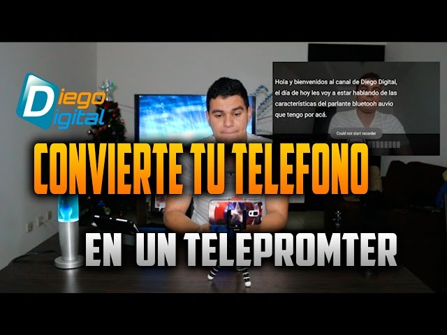 Convierte tu telefono en telepromter