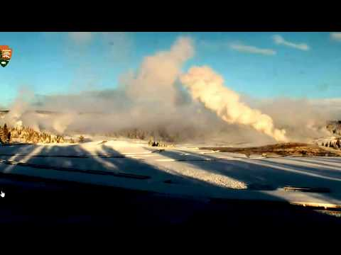 Live Cam-Giant Geyser Went off This Morning @Yellowstone!