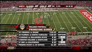 2007: Illinois at #1 Ohio State Football (FULL GAME)