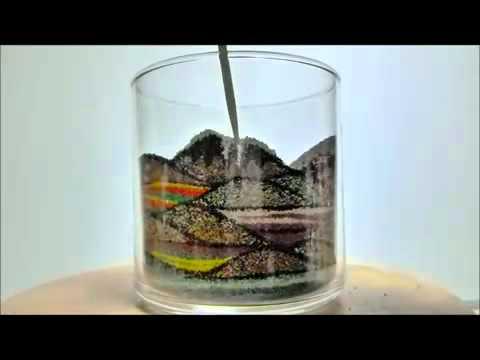 un magnifique paysage dans un verre de sables de couleurs youtube. Black Bedroom Furniture Sets. Home Design Ideas