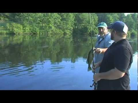 Bass Fishing On Oxford Furnace Lake In New Jersey