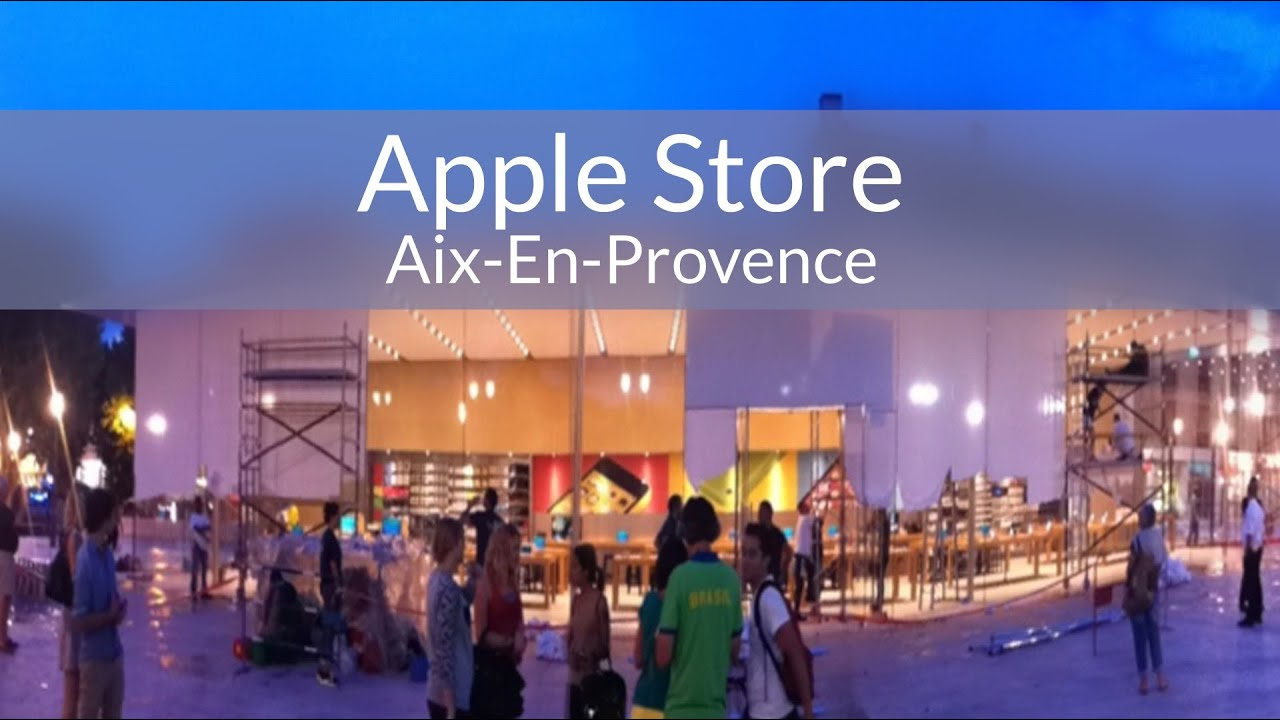 apple store aix en provence youtube. Black Bedroom Furniture Sets. Home Design Ideas